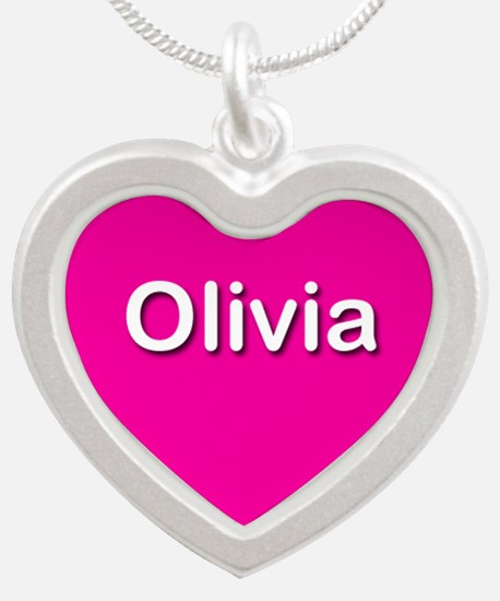 Olivia Pink Silver Heart Necklace