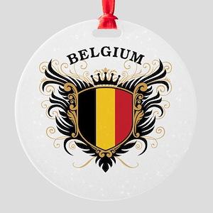 Belgium Round Ornament