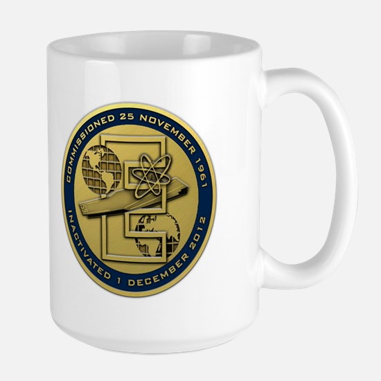 Gold CVN 65 Inactivation! Large Mug
