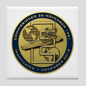 Gold CVN 65 Inactivation! Tile Coaster