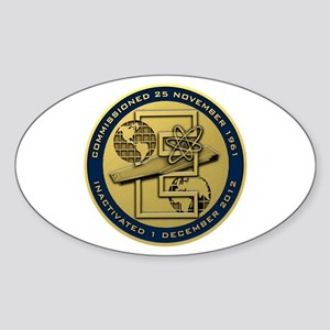 Gold CVN 65 Inactivation! Sticker (Oval)
