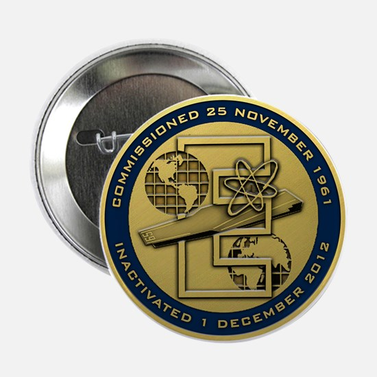 """Gold CVN 65 Inactivation! 2.25"""" Button"""