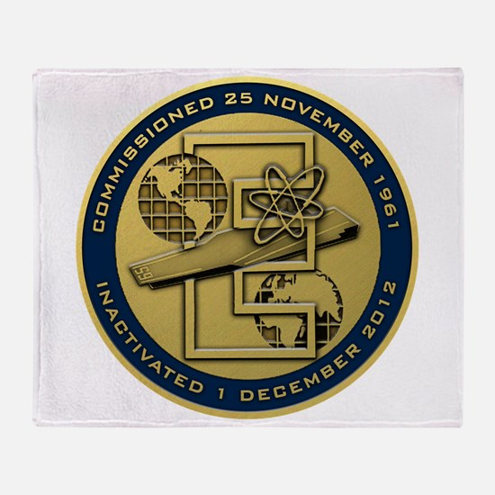 Gold CVN 65 Inactivation! Throw Blanket