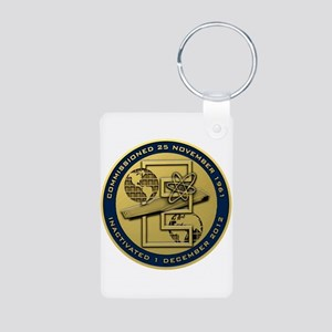 Gold CVN 65 Inactivation! Aluminum Photo Keychain