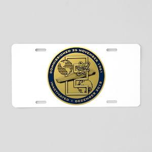 Gold CVN 65 Inactivation! Aluminum License Plate