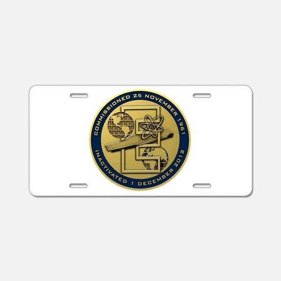 Gold CVN 65 Inactivation! Aluminum License Plate