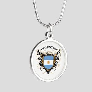 Argentina Silver Round Necklace