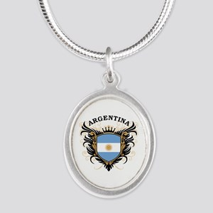 Argentina Silver Oval Necklace