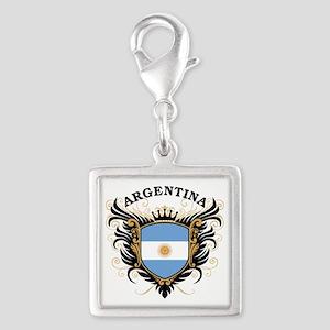 Argentina Silver Square Charm