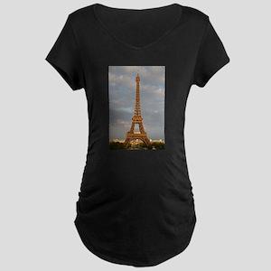 Eiffel Tower Maternity Dark T-Shirt