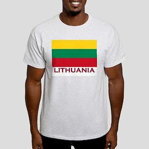 Lithuania Flag Stuff Ash Grey T-Shirt