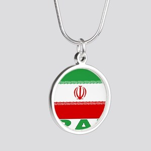 iran_b Silver Round Necklace