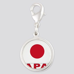 japan_b Silver Round Charm