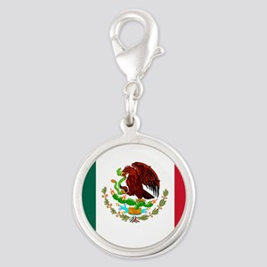 mexico_s Silver Round Charm