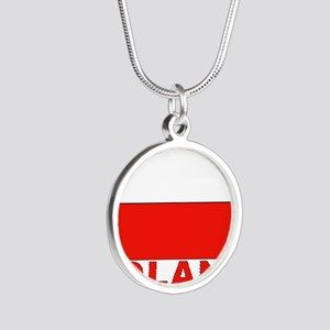 poland_b Silver Round Necklace