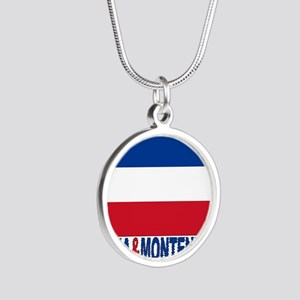 serbia-and-montenegro_b Silver Round Necklace