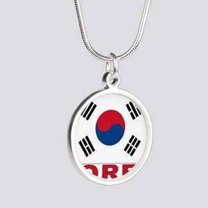 south-korea_b Silver Round Necklace