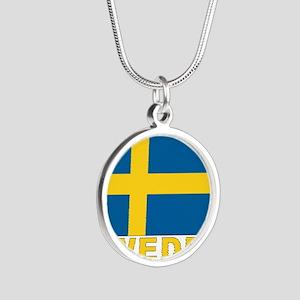 sweden_b Silver Round Necklace