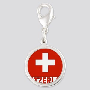 swiss-flag Silver Round Charm