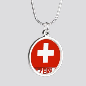 swiss-flag Silver Round Necklace