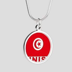 tunisia_b Silver Round Necklace