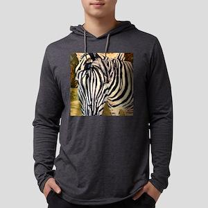 Zebra Bathroom Mens Hooded Shirt