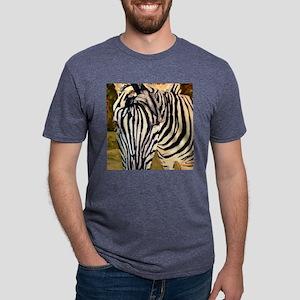 Zebra Bathroom Mens Tri-blend T-Shirt