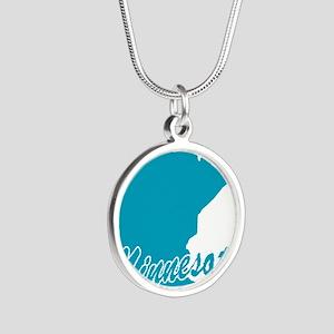 3-minnesota Silver Round Necklace