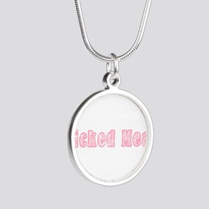 Wicked Mean Silver Round Necklace