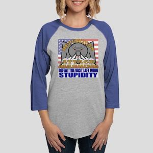 angryelephant Womens Baseball Tee