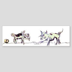 Cat dog Bumper Sticker
