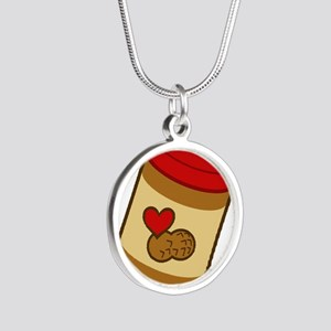 peanut-butter Silver Round Necklace