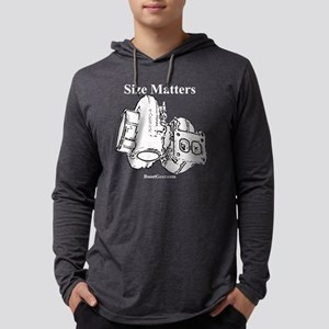 Size Matters on BLACK Mens Hooded Shirt