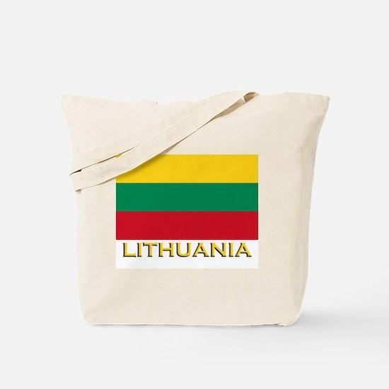 Lithuania Flag Merchandise Tote Bag