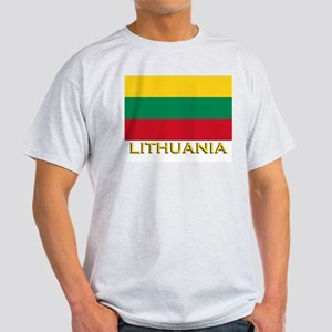 Lithuania Flag Merchandise Ash Grey T-Shirt