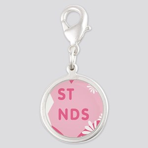 best-friends-pink-new_r Silver Round Charm
