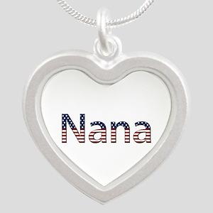 Nana Stars and Stripes Silver Heart Necklace
