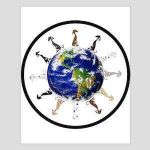 Greyhound around the world! Small Poster