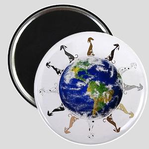 Greyhound around the world! Magnet
