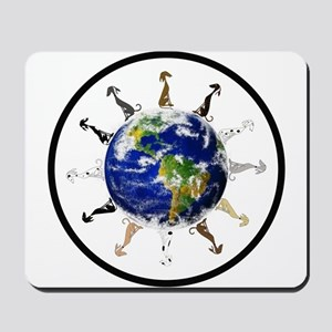 Greyhound around the world! Mousepad