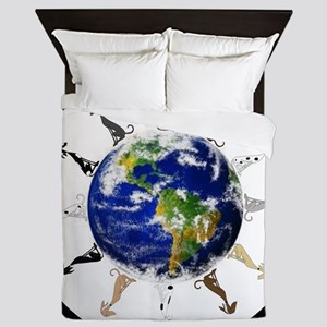 Greyhound around the world! Queen Duvet
