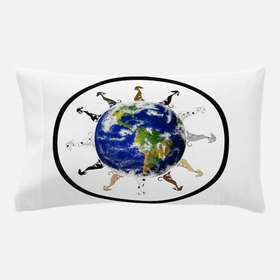Greyhound around the world! Pillow Case