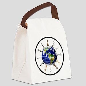 Greyhound around the world! Canvas Lunch Bag