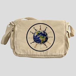 Greyhound around the world! Messenger Bag