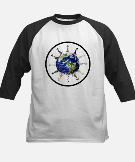 Greyhound around the world! Kids Baseball Jersey