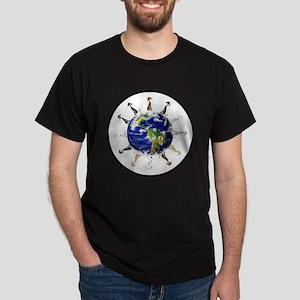 Greyhound around the world! Dark T-Shirt