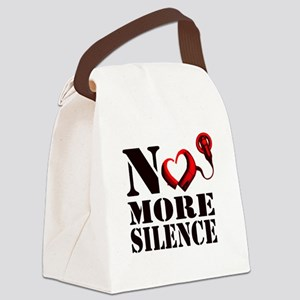 No More Silence Canvas Lunch Bag