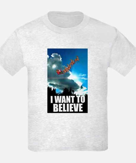 """I want to believe"" Kids T-Shirt"