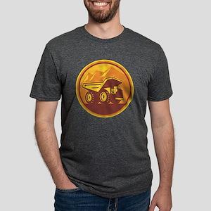 Mining Dump Truck Retro Mens Tri-blend T-Shirt