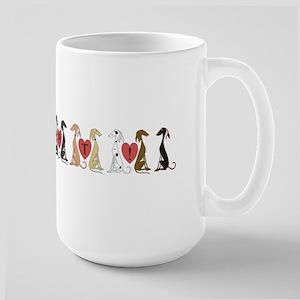 Greyhound Adopt Line Large Mug